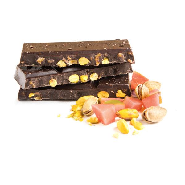 Schokolade Guave Pistazienkerne Vegan Zartbitter