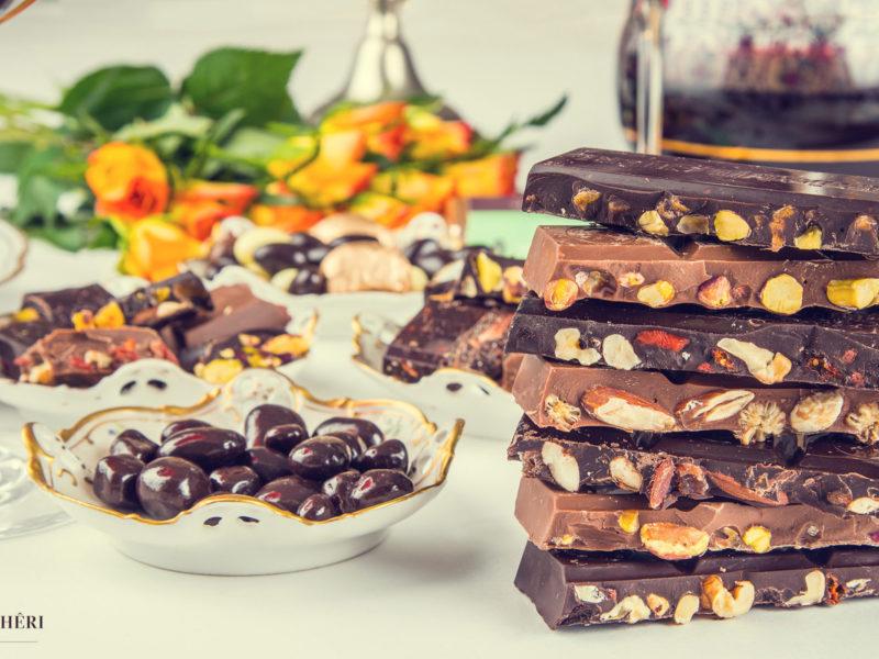 Madame Cheri Schokoladen Auswahl Stillleben Komposition