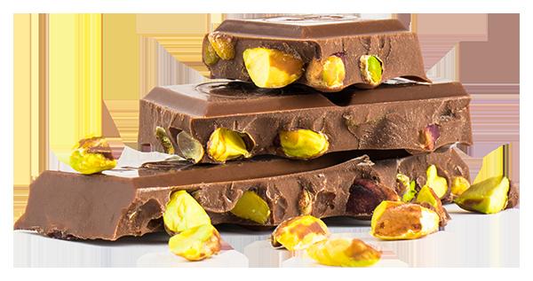 Schokolade ganze Pistazie