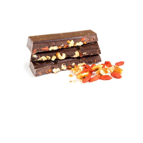 Schokolade Goji Walnuss Zartbitter Vegan