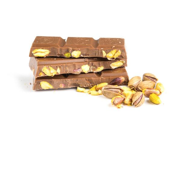 Vollmilchschokolade Pistazie