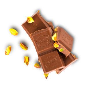Schokoladenstücke ganze Pistazie