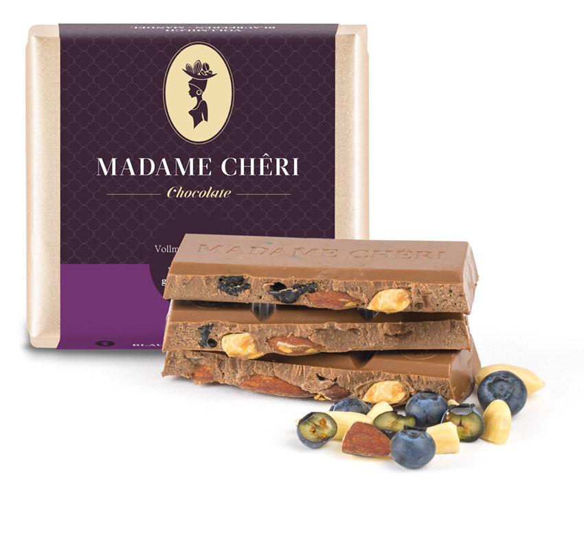 Blaubeere Mandel Schokolade