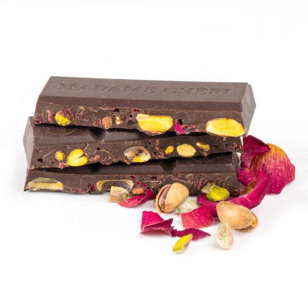 Pistazie Rose Schokolade Zartbitter